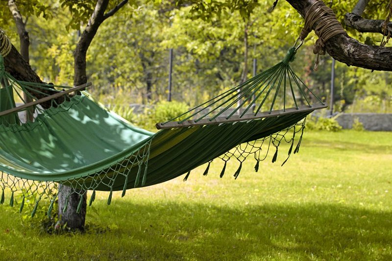 hammock shade garden backyard landscaping